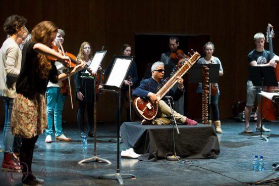 Purcell Room rehearsals with Charles Hazelwood and Baluji Shrivastav